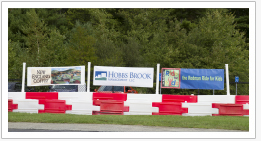 ISS Barriers Support Sponsorship Banners and Advertising